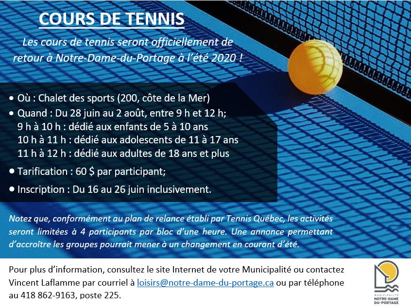 Tennis - Affiche 2020