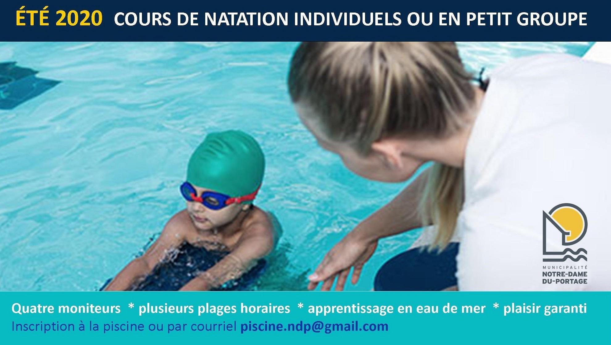 Cours de natation - 2020