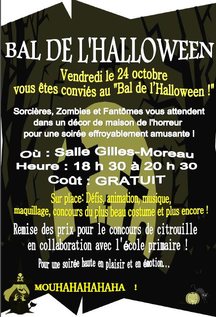 Bal de l'Halloween 24 octobre