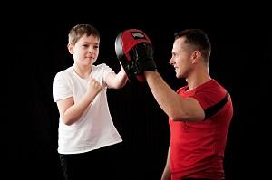 Boxe parent et enfant