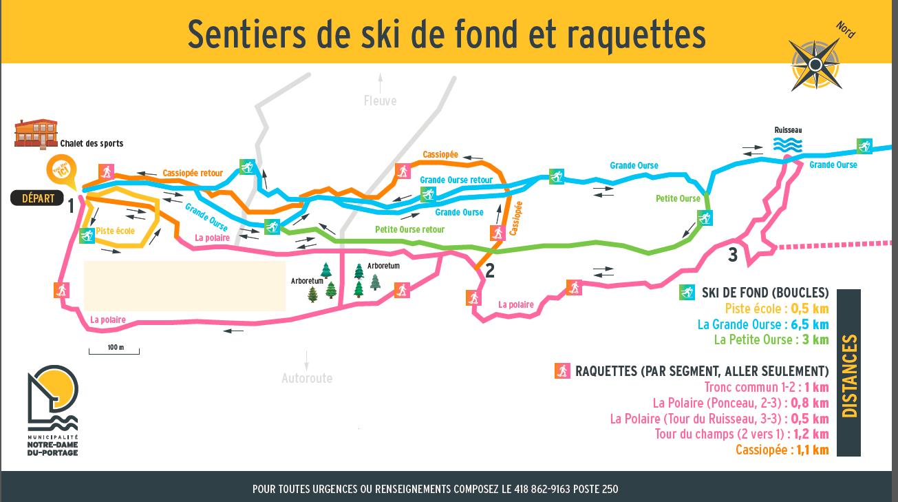 Carte des sentiers 2019