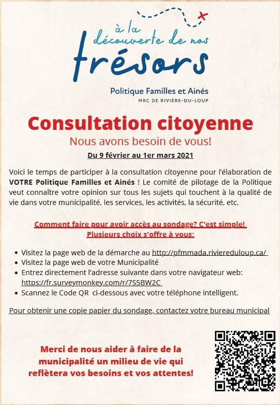 Consultation publique PFMADA